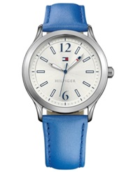 Tommy Hilfiger Women's Blue Leather Strap Watch 38Mm 1781557