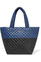 M Z Wallace Metro Two Tone Quilted Shell Tote Navy