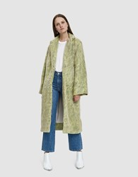 Collina Strada Easy E Organza Faux Fur Jacket Green Fur
