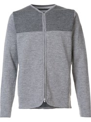Norse Projects Contrast Zip Cardigan Grey