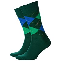 Burlington King Size Argyle Socks One Size Green