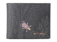 Etro Paisley Billfold Black Insect Wallet Handbags