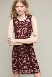 Anthropologie Innes Beaded Shift Plum