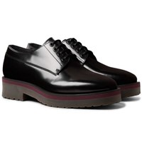 Lanvin Polished Leather Derby Shoes Black