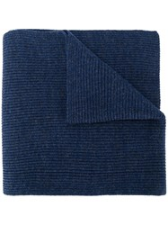 Polo Ralph Lauren Ribbed Logo Scarf Blue