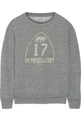 Current Elliott The Shrunken Jogger Printed French Terry Sweatshirt Gray