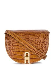 Salar Embossed Crocodile Saddle Bag 60