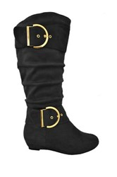 Twisted Tara Tall Boot Wide Width Available Black