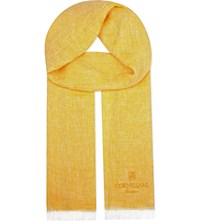 Corneliani Linen Scarf Yellow