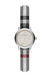 Burberry Women's Classic Round Check Fabric Strap Watch Multi