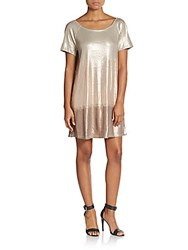 Free People Ombre Sequin Dress Rose Gold
