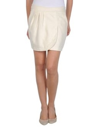 Biru Beach Mini Skirts Ivory