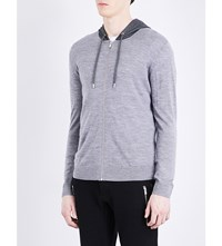The Kooples Hooded Merino Wool Cardigan Gry05