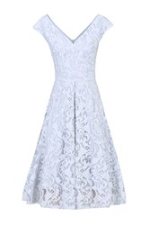 Jolie Moi Sweetheart Neck Lace Prom Dress Grey