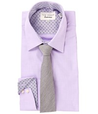 Ted Baker Morrell Dress Shirt Purple Men's Long Sleeve Button Up