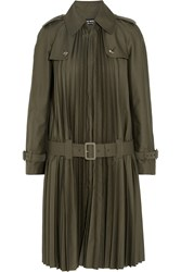 Junya Watanabe Pleated Twill Trench Coat