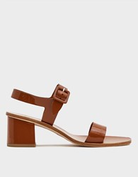 Loq Altea Heeled Sandal In Flan Size 36 Leather