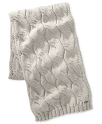 Michael Kors Men's Cable Knit Scarf Pumice Por