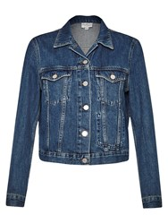 French Connection Micro Western Denim Jacket Tinted Vintage
