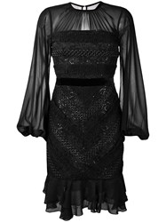 Three Floor Diamond Dress Black