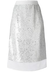 Jil Sander Sequin Layer Skirt White