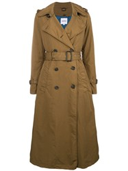 Aspesi Double Breasted Trench Coat Green