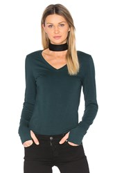 Michael Stars Thumbhole V Neck Green