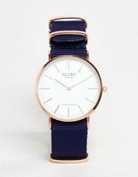 Reclaimed Vintage Canvas Watch In Blue Blue