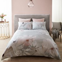 Karl Lagerfeld Digital Daisy Duvet Cover Grey Blush