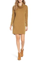 Lush Women's Long Sleeve Cowl Neck Sweater Dress