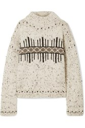 Isabel Marant Elwyn Wool Blend Sweater Ecru