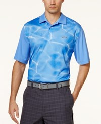 Greg Norman For Tasso Elba Men's Sublimated Ripple Performance Polo Only At Macy's