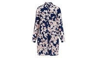 Whistles Apple And Pear Shirt Dress Blue Multi