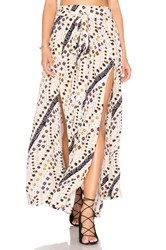 Free People Remember Me Maxi Skirt Beige