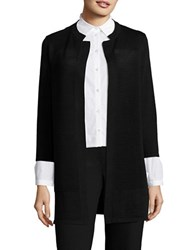 Nipon Boutique Ribbed Open Front Cardigan Black