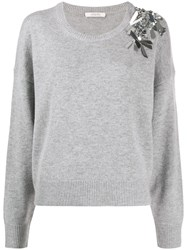 Dorothee Schumacher Embellished Long Sleeve Jumper 60