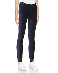 Paige Verdugo Ultra Skinny Velvet Jeans In Midnight Royal