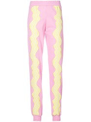 House Of Holland Hypnotic Track Pants Pink And Purple