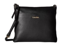 Calvin Klein Pebble Leather Crossbody Black Cross Body Handbags