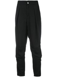 Tom Ford Drop Crotch Cropped Trousers Black