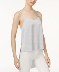 Kensie High Low Camisole Silver
