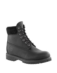 Timberland Leather Work Boots Black