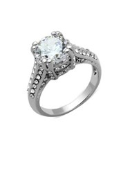 Michela Estate Crystal And Cubic Zirconia Ring Silver