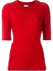 Sonia Rykiel Knitted T Shirt Red