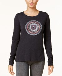 Columbia Pixel Point Graphic Top Charcoal Heather