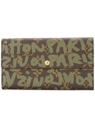 Louis Vuitton Vintage Graffiti Monogram Card Holder Brown