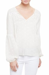 Sanctuary Women's Gabby Eyelet Embroidery Peasant Blouse