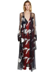 Act N 1 Hand Embroidered Tulle Kimono Dress