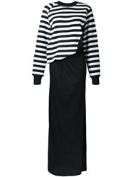 A.F.Vandevorst Striped Maxi Dress Black