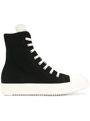 Rick Owens Drkshdw Hi Top Sneakers Leather Canvas Rubber 41.5 Black